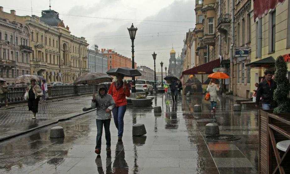 Дождливый Санкт Петербург