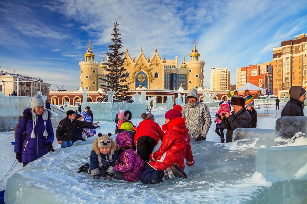 Парки в Казани зимой