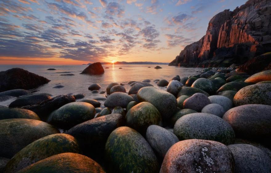 пляж яйца дракона териберка