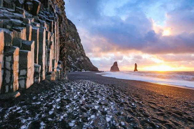 Черный пляж Исландия