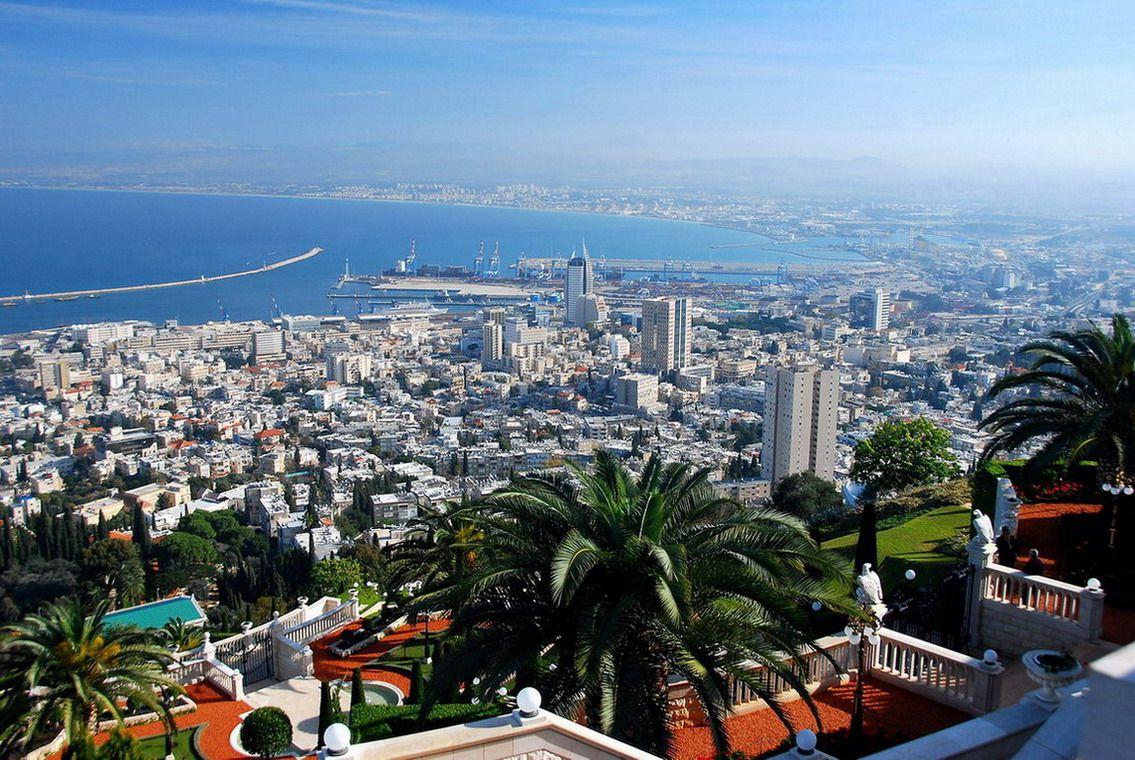 Вид на город Хайфа