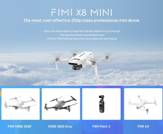 FIMI X8SE 2020 Камера Дрон Квадрокоптер