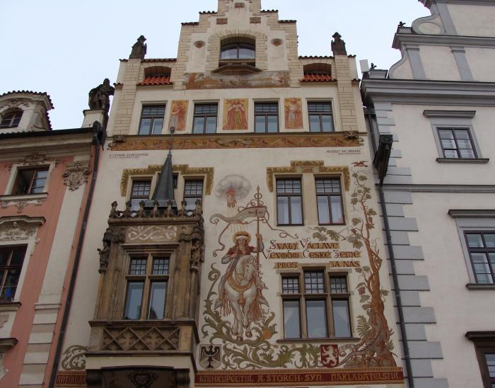 Чехия. Прага. Дом Шторха