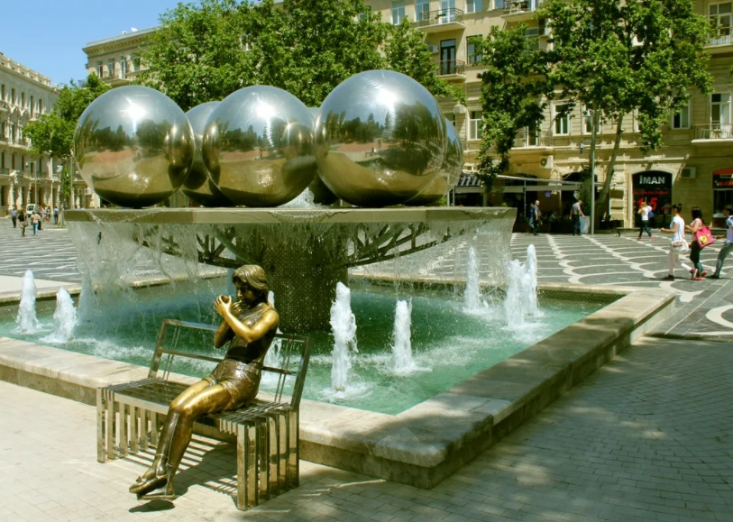 Баку, площадь фонтанов