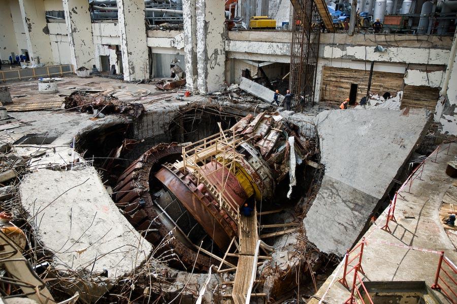 Саяна-Шушенская ГЭС после катастрофы