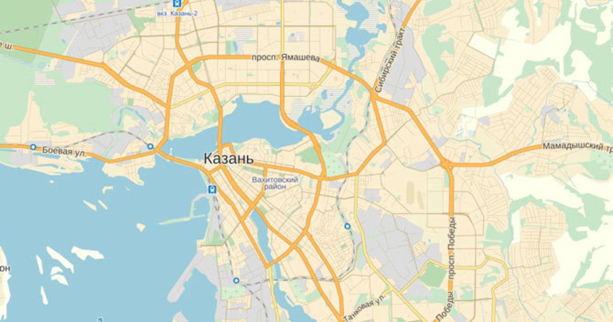 Карта Казани