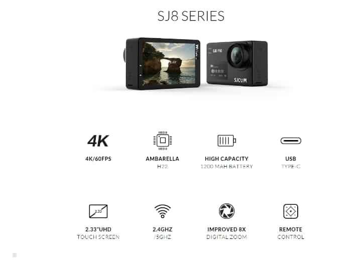 Экшн-камера SJCAM SJ8 Pro SJ8 Series